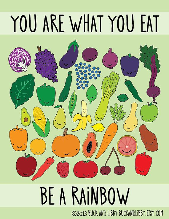 Be A Rainbow Illustration Print by Buck and Libby