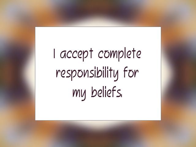 ACCEPTANCE affirmation