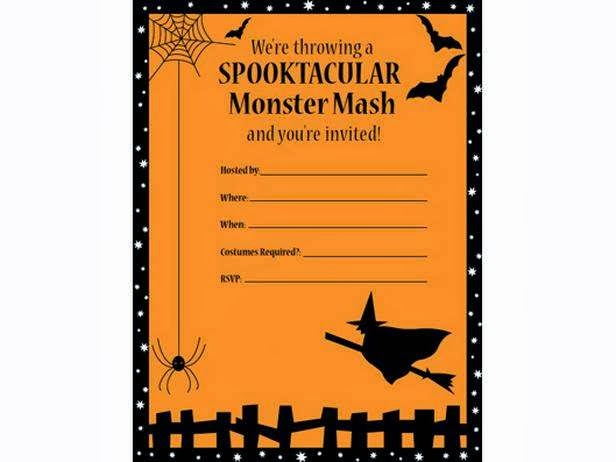 Modest image throughout free printable halloween party invitations