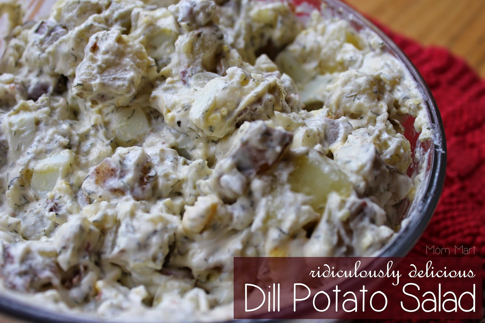 Super Easy and Ridiculously Delicious Dill Potato Salad Recipe #Summer #Recipe Easy Potato Salad