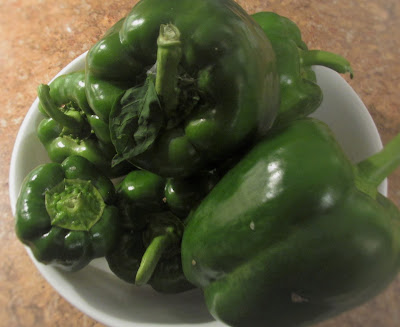 Peppers from the garden -Vickie's Kitchen and Garden