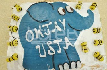 Oktay Usta Doğum Günü Pastası 2013 Mavi Fil Pasta Tarifi Yeşil Elma