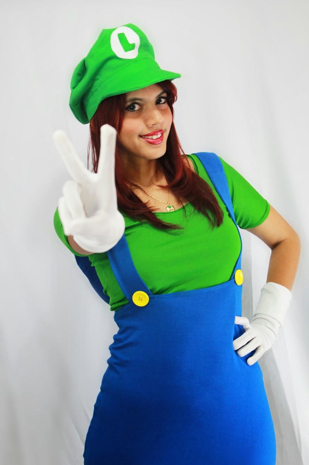 SetCosplay   TUTORIAL  Boina (Cap) do Luigi Mario + Roupa Cosplay c80021ecfa3