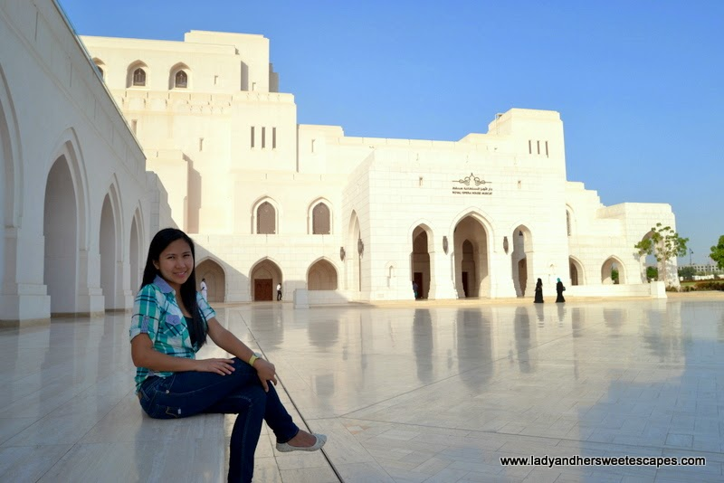 Lady in Royal Opera House Muscat