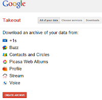 After Google  takeout