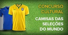 """Concurso Cultural  """"Camisas das Seleções do Mundo"""""""