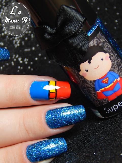 decoração de unha superman