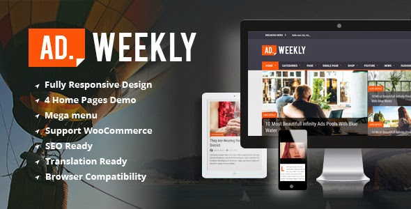 download AD. Weekly - Professional Magazine WordPress Theme