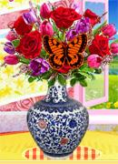 Дизайн вазы с цветами - Онлайн игра для девочек
