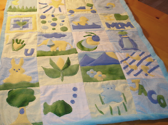 collaborative baby shower quilt