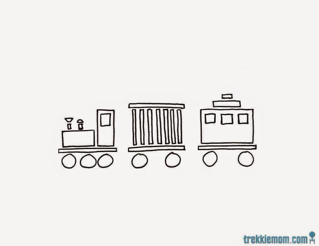 Hand Drawn Train Image 1
