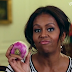 First Lady Michelle Obama turns up for turnips