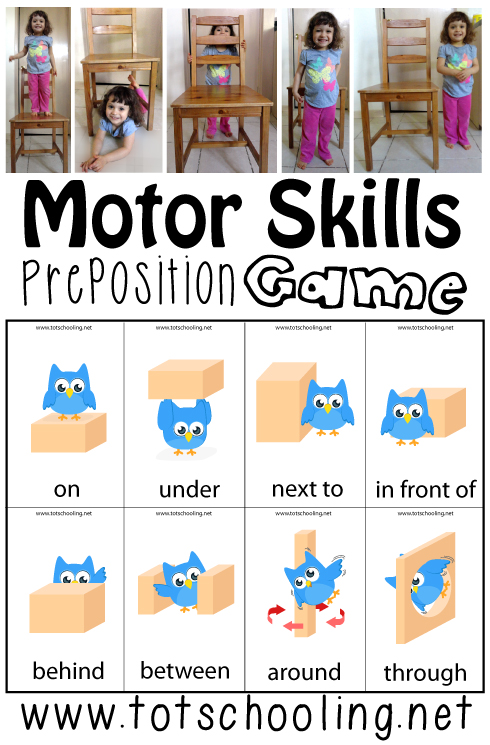 Motor Skills Preposition Game Totschooling Toddler Preschool
