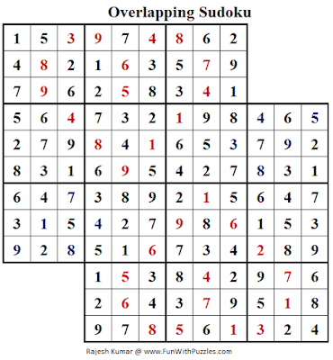 Overlapping Sudoku (Fun With Sudoku #157) Answer