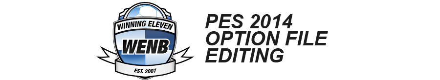 WENB Editing Blog | PES 2014 Option Files for PS3 and XBOX 360