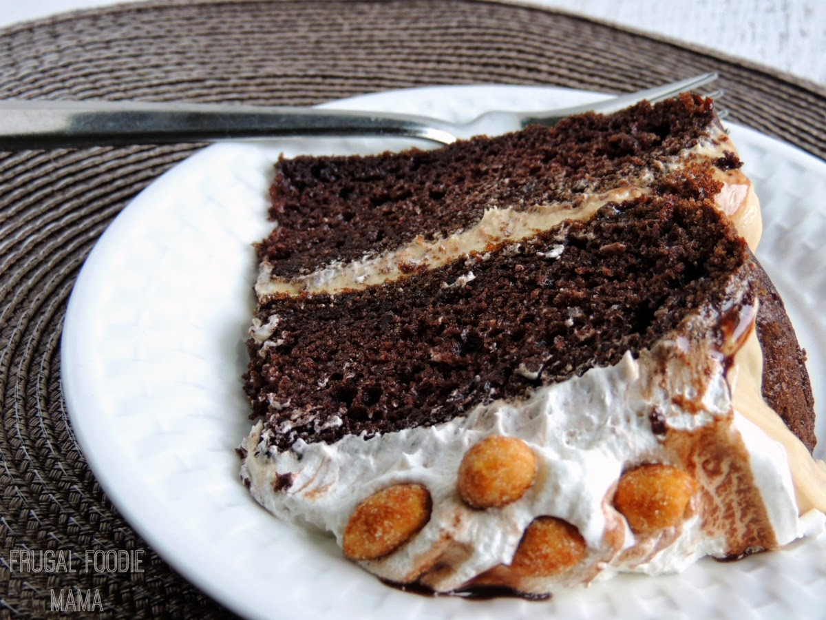 With it's super moist chocolaty cake layers frosted with a rich peanut buttery mousse, this Triple Chocolate Peanut Butter Mousse Cake is chocolate cake perfection
