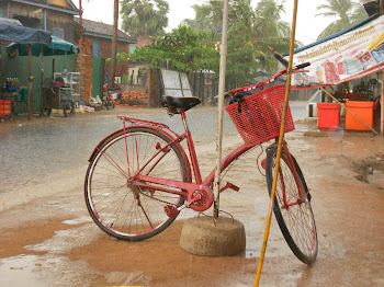 My bike in the rain