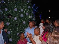 Ayuntamiento SDN enciende tradicional árbol de navidad