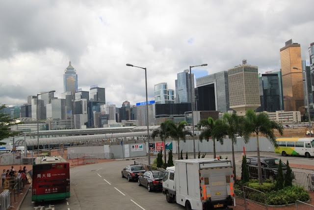 The Center skyline building (far behind) in Hong Kong Island, Hong Kong