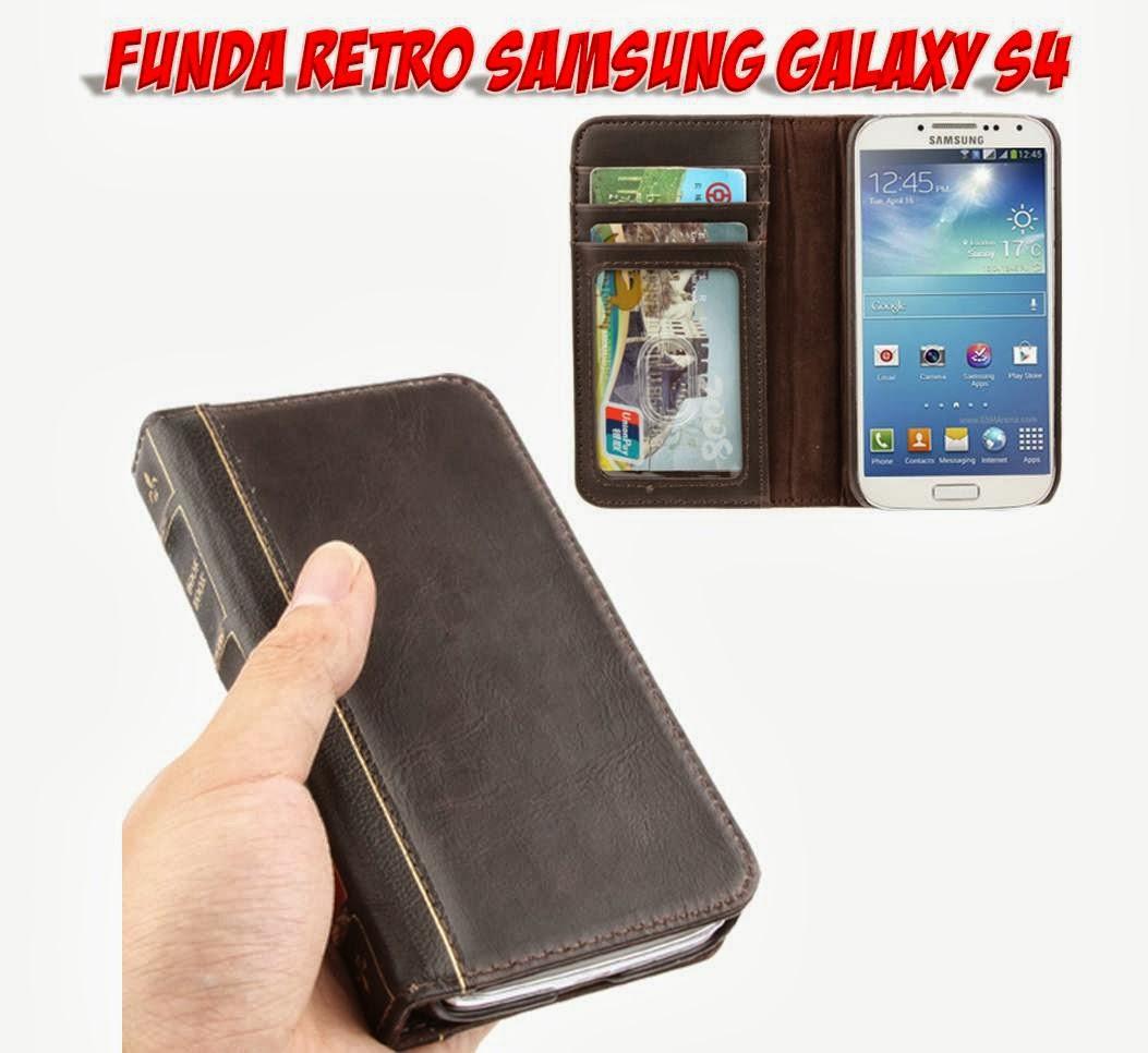 Regalos y gadgets originales y baratos comprar funda retro de cuero para samsung galaxy s4 - Fundas baratas para moviles ...