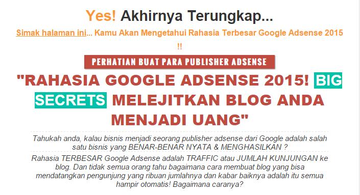vRahasia Publisher Google Adsense 2015