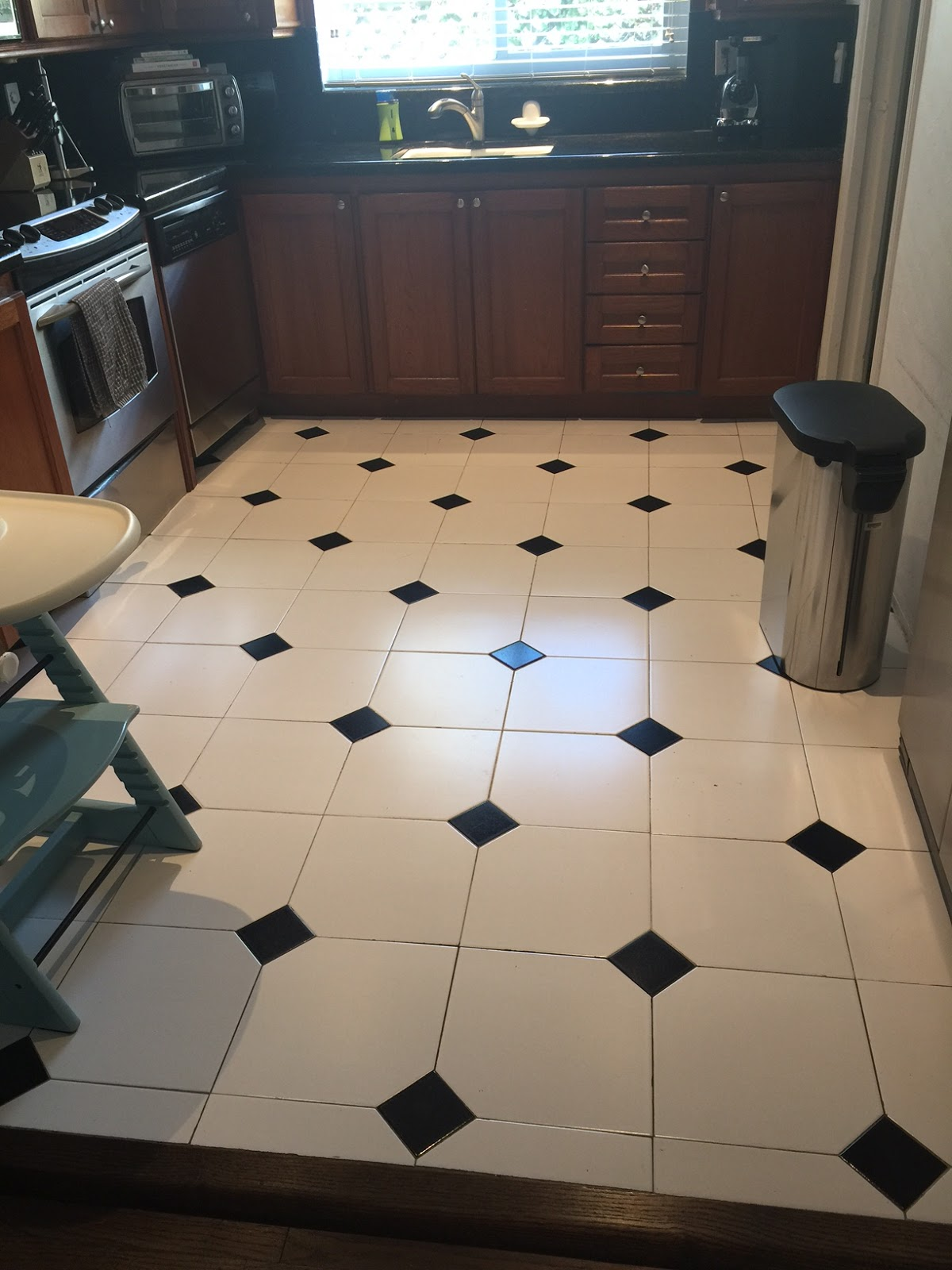 Home Decor Kitchen Makeover Reveal With Lowes Viva Fashion 4 Way Switch At The Second Most Drastic Change Aside From White Cabinets Was Floor They Have Such A Wide Selection It Hard To Narrow Down