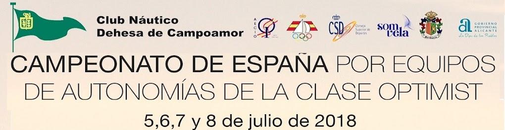 Campeonato de España por equipos de Autonomías Clase Optimist. Club Náutico Dehesa Campoamor