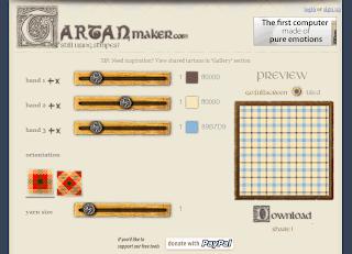 Онлайн-генератор для создания узоров Tartan Maker