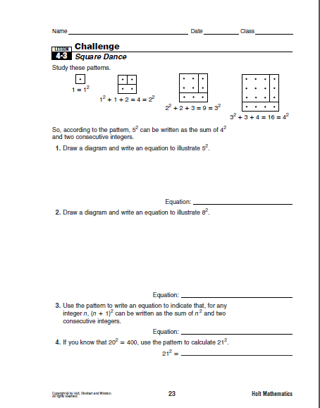 Worksheet Perfect Square Worksheets teaching ahead of the curve worksheets friend foe working in pairs students modelled perfect squares and used this worksheet to document their investigation by writing equations