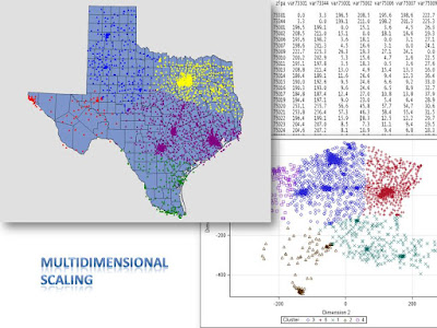 Multidimensional scaling for clustering ZIP codes