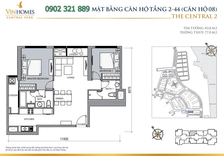 mat-bang-can-ho-thap-central2-tang-2-44-can-8