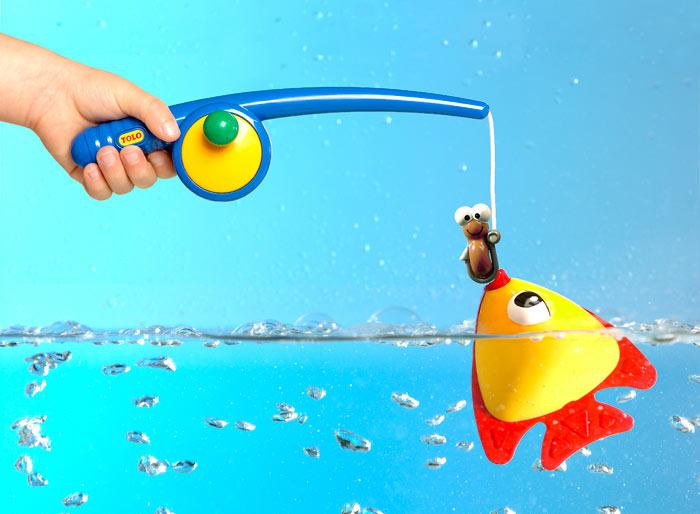 купить детскую удочку с магнитами рыбками