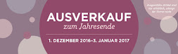 """""""Year-End Closeouts"""" Ausverkauf zum Jahresende  ab 1.Dezember 2016 ab 00.00 Uhr!"""