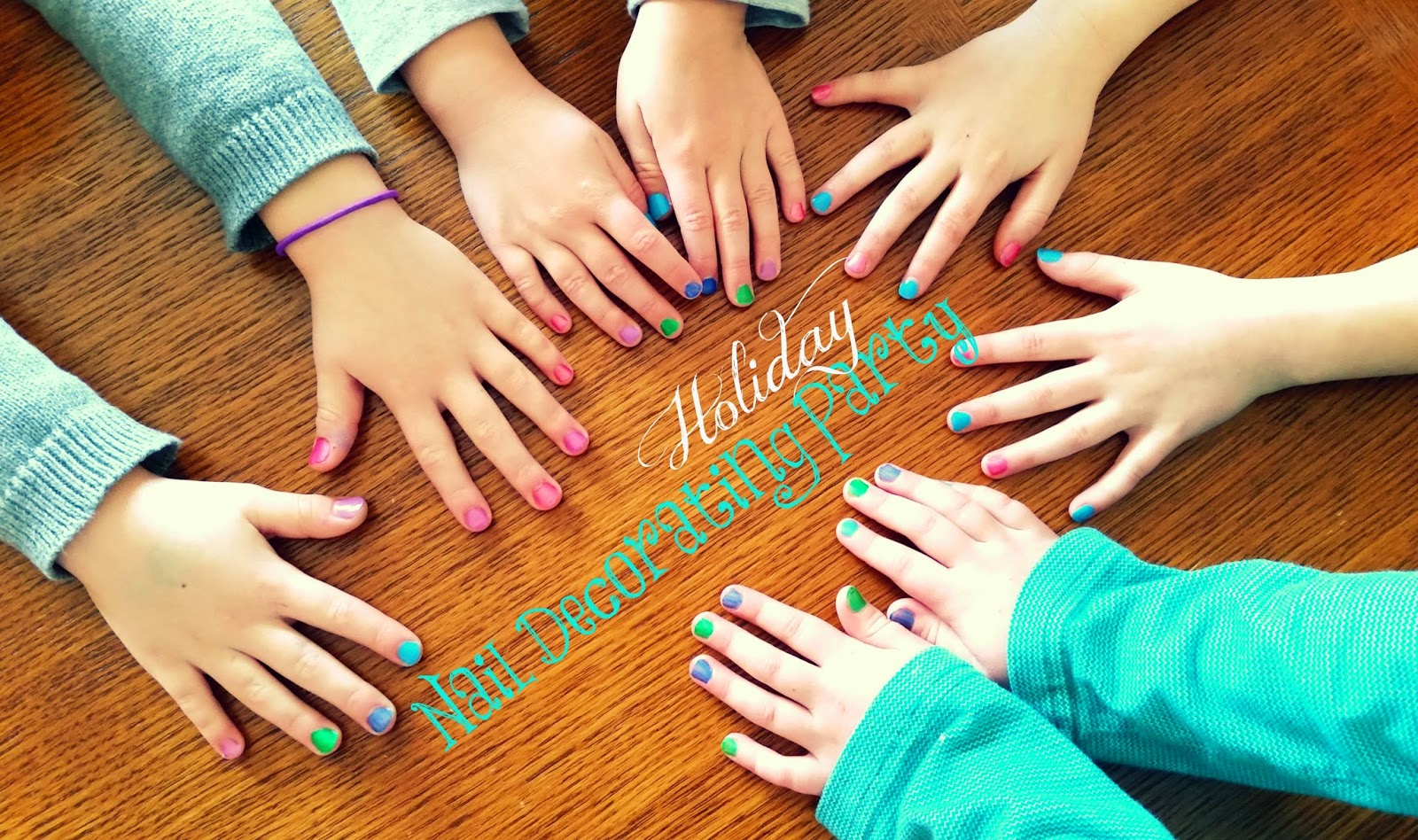 #ad #PamperedPiggies #CollectiveBias Holiday Nail Decorating Party Ideas