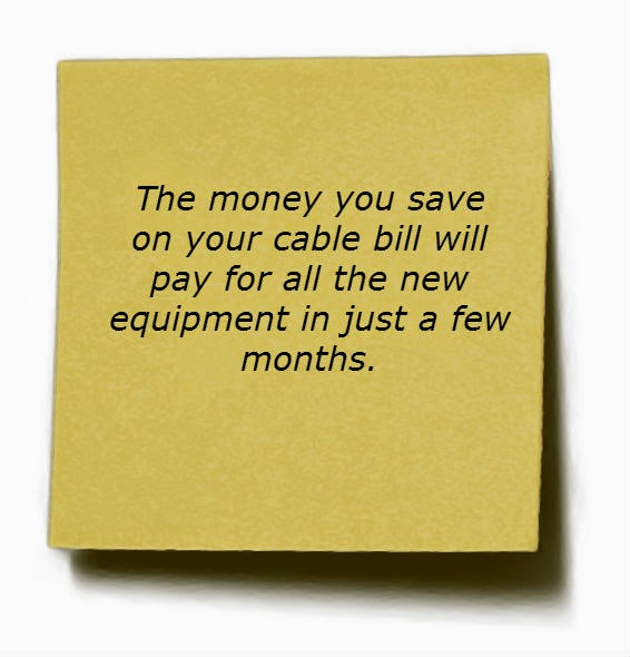 Save Money by cutting the cable cord