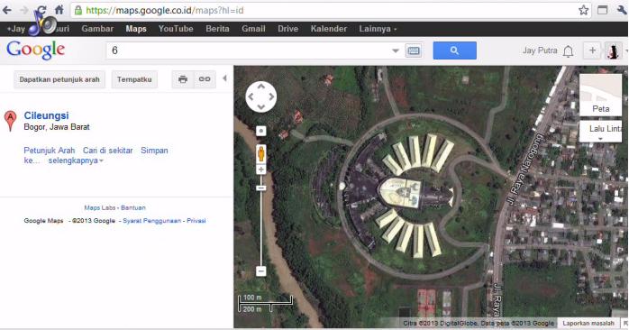 Gedung garuda di Google Maps