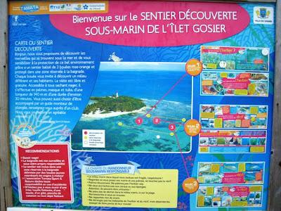 Sentier sous-marin à l'Ilet Gosier