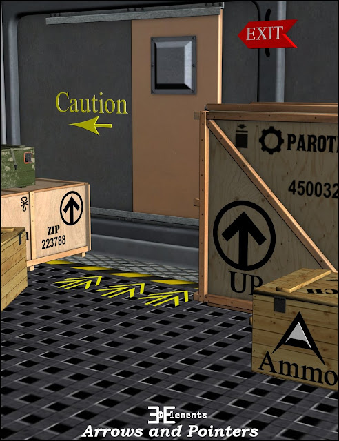3D Elements: Arrows and Pointers for Daz Studio