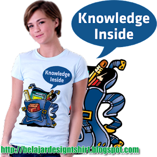 KNOWLEDGE INSIDE T-SHIRT DESIGN