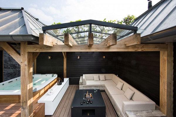 Cabinas De Ducha Oasis:Diseño de Interiores & Arquitectura: Patio Interior Acuático