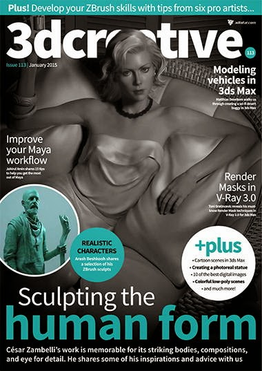 3D Creative Magazine Issue 113 January 2015
