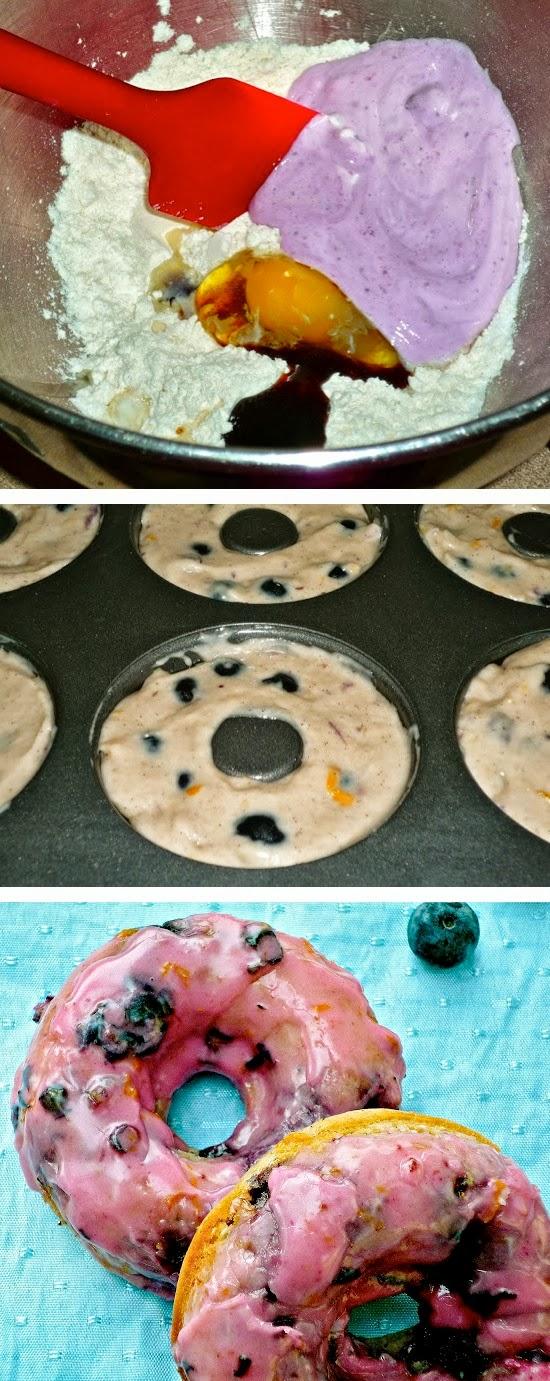 Baked Blueberry-Lemon Donuts, Baked Blueberry, Lemon Donut
