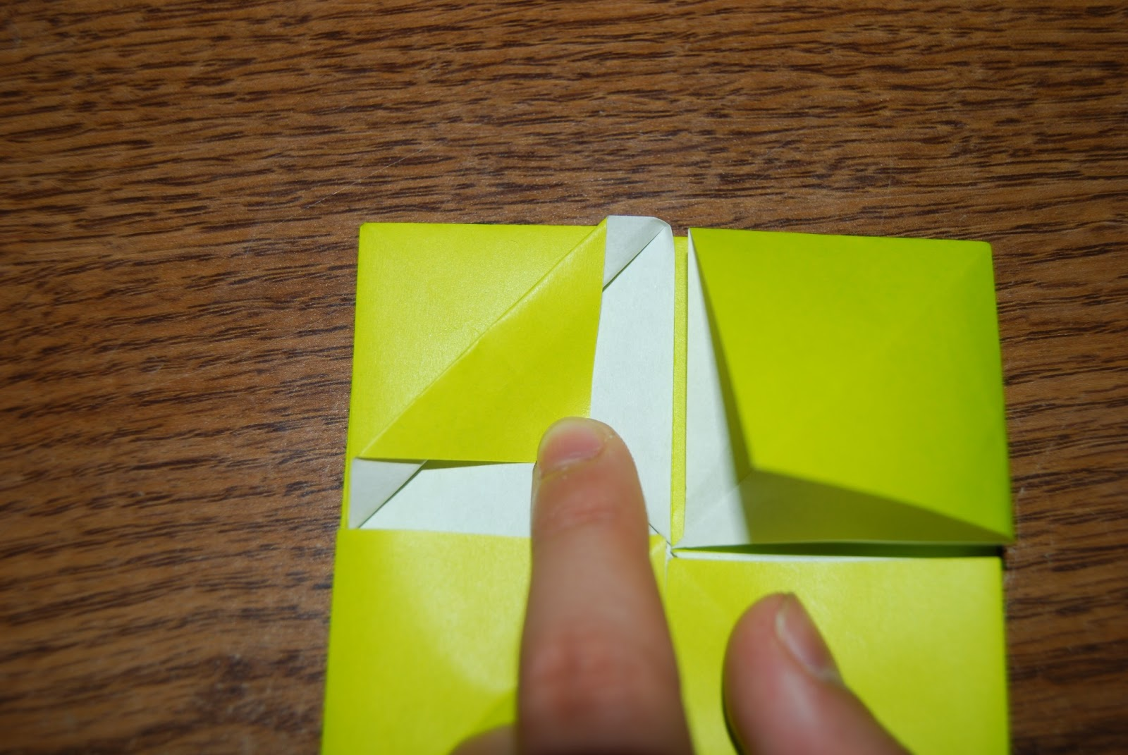 The froebel variations step 2 now valley fold it back partway to start crimppleat folding it jeuxipadfo Image collections
