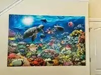 How to mount and hang a jigsaw puzzle without glue - Under the Sea thumbnail