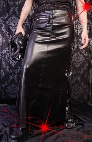 Black Punk Rock Skirt for Men