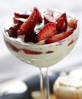 strawberries Romanoff recipe