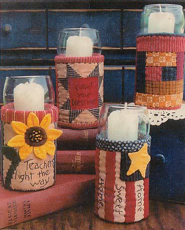 DIY kaleng bekas : Fabric Covered Can Candle Holders