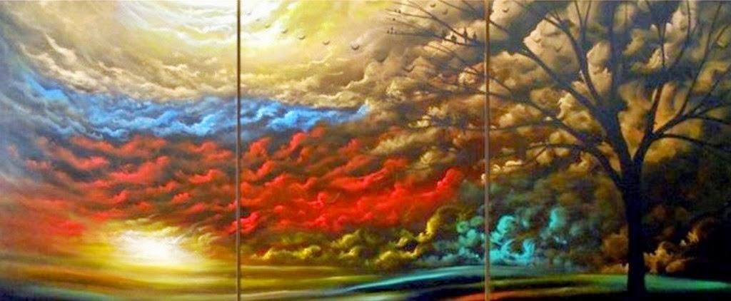 Cuadros modernos pinturas y dibujos cuadros de paisajes - Fotos modernas para cuadros ...