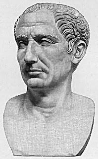 Busto de Julio César genio militar y dictador de Roma.