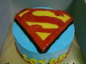 2D Superman Cake